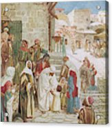 Jesus Advises His Disciples To  'suffer Acrylic Print