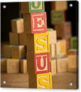 Jesus - Alphabet Blocks Acrylic Print