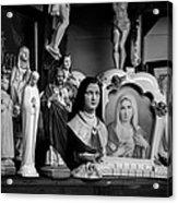 Jesus And Mary At The Curio Shop Acrylic Print by Bob Orsillo