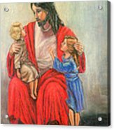 Jesus And The Children Acrylic Print