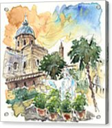 Jesus By Palermo Cathedral Acrylic Print