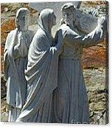 Jesus Carrying Cross Acrylic Print
