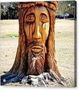 Jesus Carving Acrylic Print