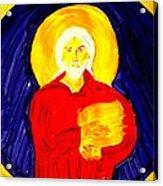 Jesus Christ And Book Of Mormon Gold Plates Acrylic Print