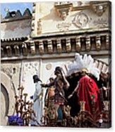 Jesus Christ And Roman Soldiers On Procession Platform Acrylic Print by Artur Bogacki