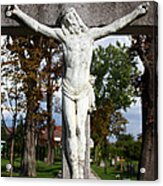 Jesus Christ Crucified Acrylic Print