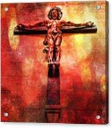 Jesus Christ On The Cross Acrylic Print