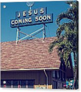 Jesus Coming Soon Church Maui Hawai Acrylic Print