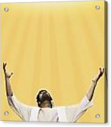 Jesus Cries Out To Heaven Acrylic Print by Kelly Redinger