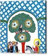 Jesus Enters The Gate Of Jerusalem Acrylic Print