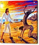 Jesus Evicting A Demon Acrylic Print