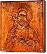 Jesus From A Door Panel At Santuario De Chimayo Acrylic Print