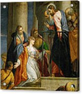 Jesus Healing The Woman With The Issue Of Blood Acrylic Print