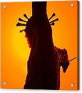 Jesus In Sunset 2 Faith Acrylic Print