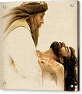 Jesus Laid To Rest Acrylic Print by Ray Downing