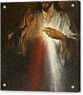 Jesus Of Divine Mercy Acrylic Print