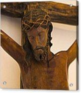 Jesus On The Cross Acrylic Print by Al Bourassa