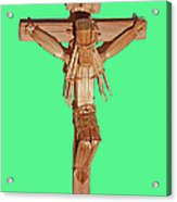 Jesus On The Cross In Mexico 1925 Acrylic Print