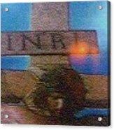 Jesus On The Cross Mosaic Acrylic Print