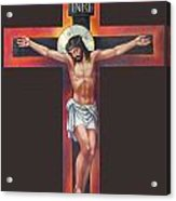 Jesus On The Cross Acrylic Print