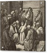 Jesus Questioning The Doctors Acrylic Print