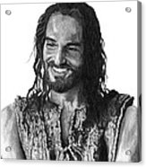 Jesus Smiling Acrylic Print by Bobby Shaw
