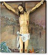 Jesus Statue At Latin Church In Taybeh Acrylic Print