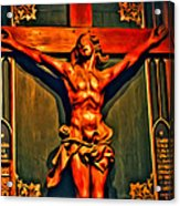 Jesus Statue Of Notre Dame Acrylic Print