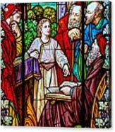 Jesus Teaches In The Temple Acrylic Print