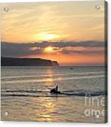 Jet Bike Sunset Acrylic Print