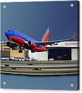 Jet Chicago Airplanes 12 Out Of Bounds Acrylic Print