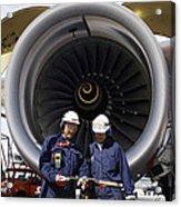 Jet Engine And Air Mechanics Acrylic Print
