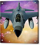 Jet Fighter Aircraft F-16 Falcon Aircraft  Acrylic Print