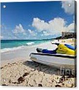 Jet Ski On The Beach At Atlantis Resort Acrylic Print by Amy Cicconi