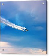 Jetfighter With Smoke Trail. Acrylic Print
