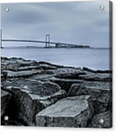 Jetty At Fort Totten Acrylic Print