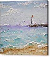 Jetty Lighthouse Acrylic Print