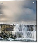 Jetty Spillover Waterfall Acrylic Print