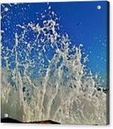 Jetty Splash And Plane 5 10/1 Acrylic Print