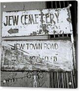 Jew Town In Cochin Acrylic Print