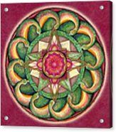 Jewel Of The Heart Mandala Acrylic Print