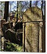 Jewish Cemetery Acrylic Print by Brenda Kean