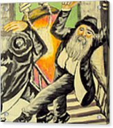 Jewish Holiday  Acrylic Print by Mimi Eskenazi
