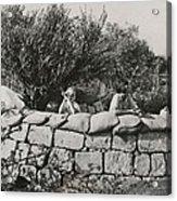 Jews Guard Their Settlement Acrylic Print