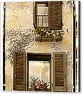 Orvieto Window Polaroid Acrylic Print