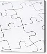 Jigsaw Puzzle Blank Acrylic Print