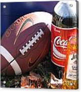 Jim Beam Coke And Football Acrylic Print