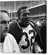 Jim Brown Post Game  Acrylic Print by Retro Images Archive