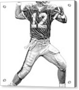 Jim Kelly Acrylic Print by Harry West