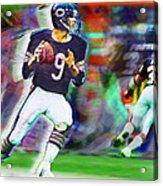 Jim Mcmahon With Walter Payton Chicago Bears Acrylic Print